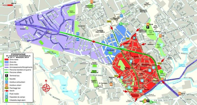 Mappa centro città