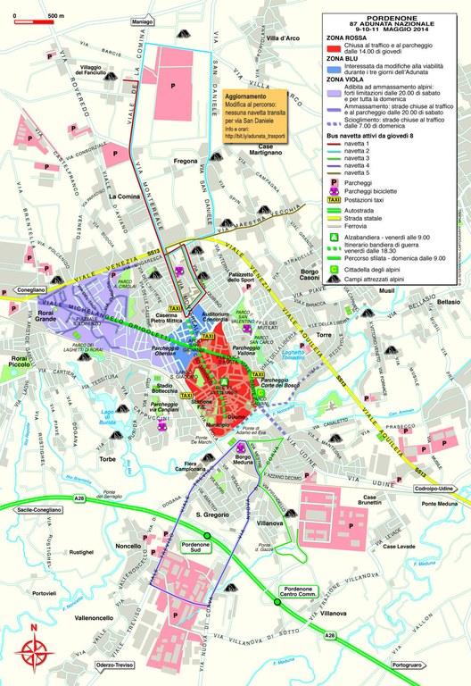 Mappa comune di Pordenone