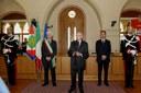 Il Presidente della Repubblica Giorgio Napolitano, il Sindaco di Pordenone Claudio Pedrotti, Il Presidente del consiglio comunale Nisco Bernardi