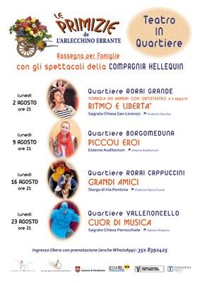 Rassegna teatrale per famigliea cura della Scuola Sperimentale dell'Attore #estateapordenone
