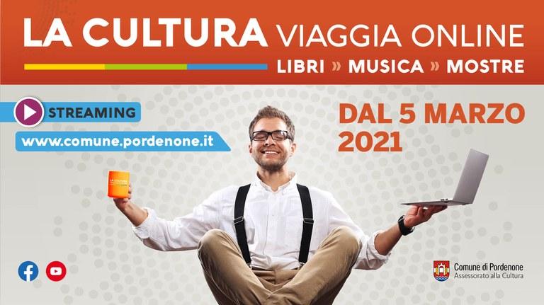 """Banner """"La cultura viaggia online"""""""