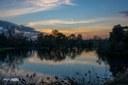 Tramonto sul lago della Burida