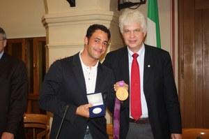 26 novembre 2012, conferito il Sigillo della città a Daniele Molmenti