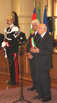 30 maggio 2012, Sigillo della città conferito al Presidente della Repubblica Giorgio Napolitano