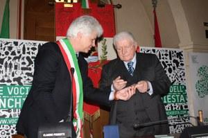 11 aprile 2013, conferito il Sigillo della città a Sergio Zavoli