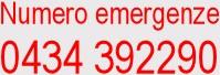 Numero emergenze 0434392290