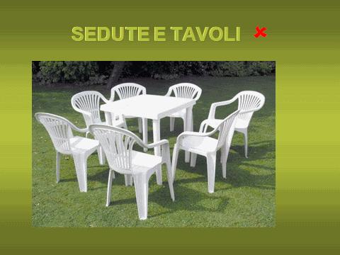 Sedie tavoli NO