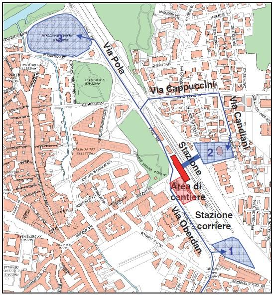 Mappa dei parcheggi alternativi