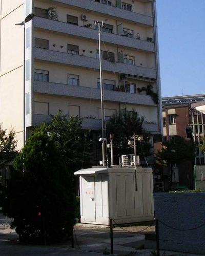 La centralina di rilevamento di Viale Marconi a Pordenone