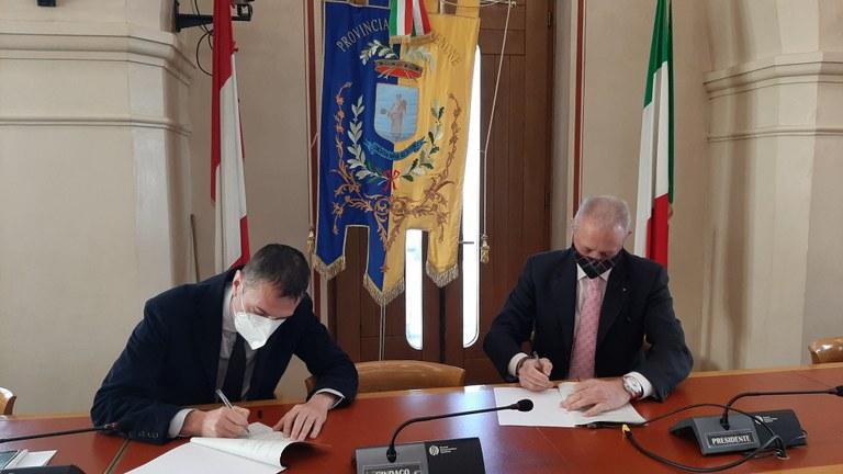 Il sindaco Ciriani: «Accordo cruciale per reperire risorse per lo sviluppo della città»