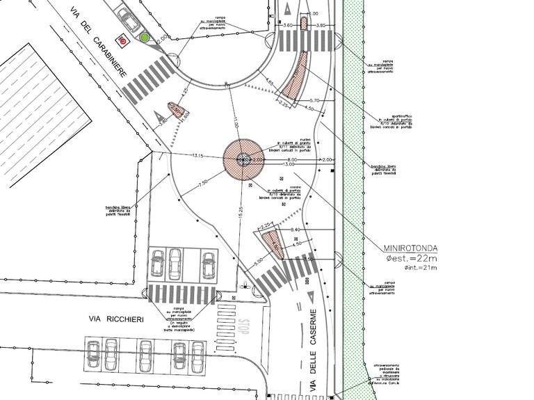 Primo tassello di una serie di lavori per creare due zone 30 da un lato e dall'altro di via delle Caserme