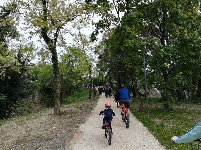 Aperta la nuova ciclabile dei parchi