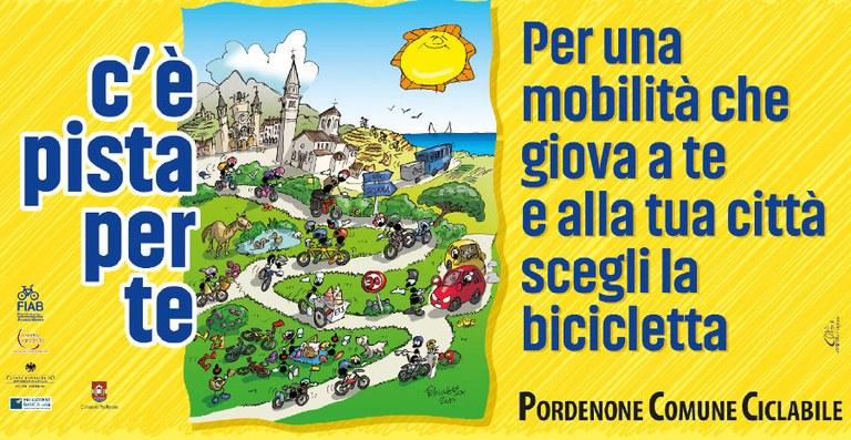 Pordenone comune ciclabile: piste ciclabili, la bicicletta al centro, mobilità elettrica e percorsi  accessibili. Facciamo il punto in occasione della Settimana europea della mobilità.