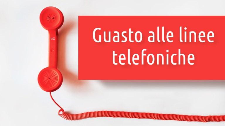Guasto alle linee telefoniche [PROBLEMA RISOLTO]