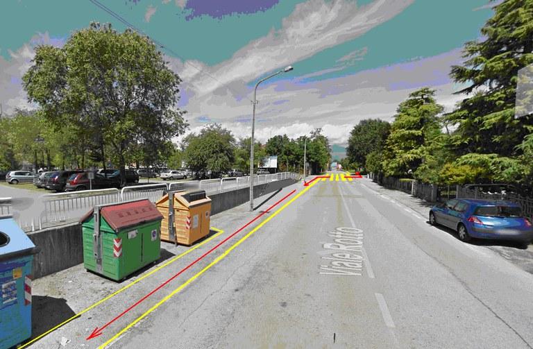 Nuovo percorso pedonale tra il park di vial Rotto e l'ospedale