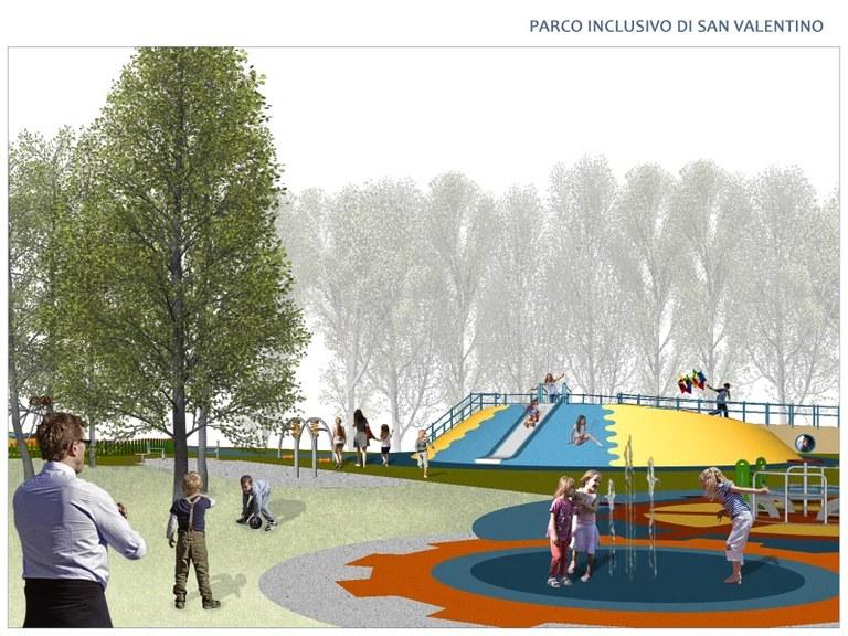Parco San Valentino inclusivo, l'inaugurazione è domenica 13