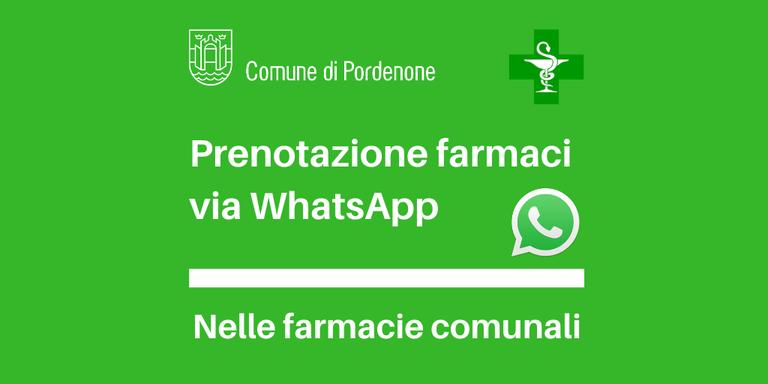 Prenotazione farmaci via WhatsApp