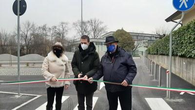 Via Vesalio, inaugurato il nuovo parcheggio