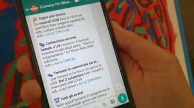 WhatsApp comunale, record con 9 mila iscritti