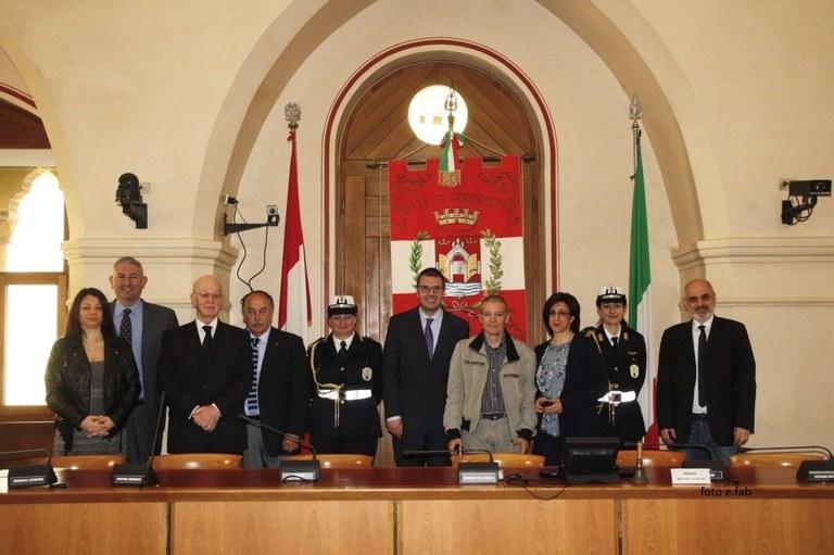 Foto  Cerimonia in sala consiliare