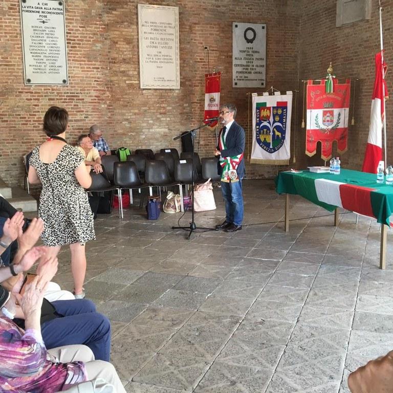 Foto  Gli Italiani di Pirano  ricevuto dall'assessore Emanuele Loperfido