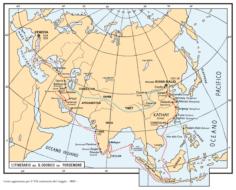 Foto     Itinerario del viaggio