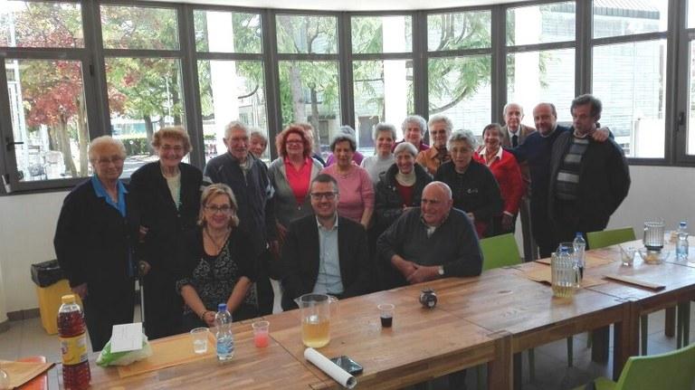Foto  I primi partecipanti con il Sindaco