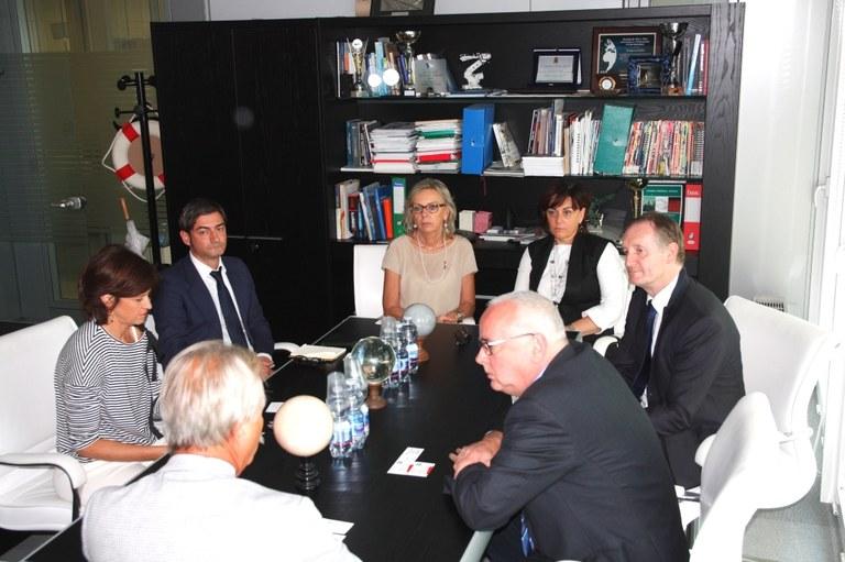 Foto La delegazione al Polo tecnologico
