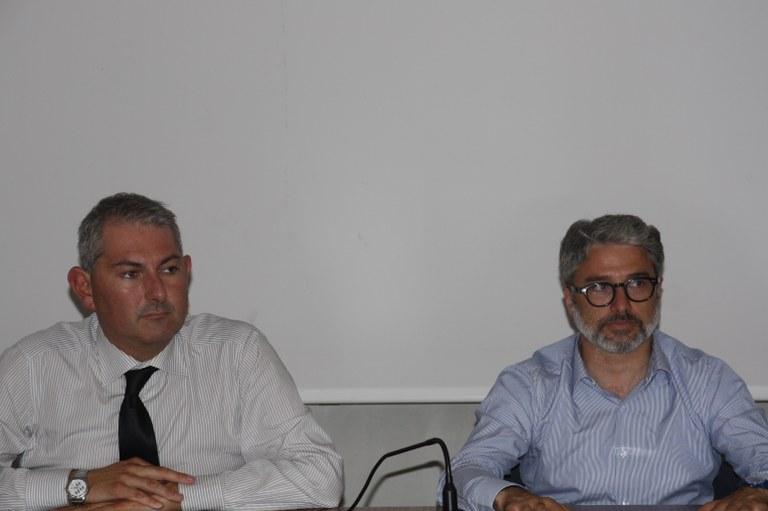 Foto L'assessore Emanuele Loperfido e il consigliere delegato Alessandro Basso