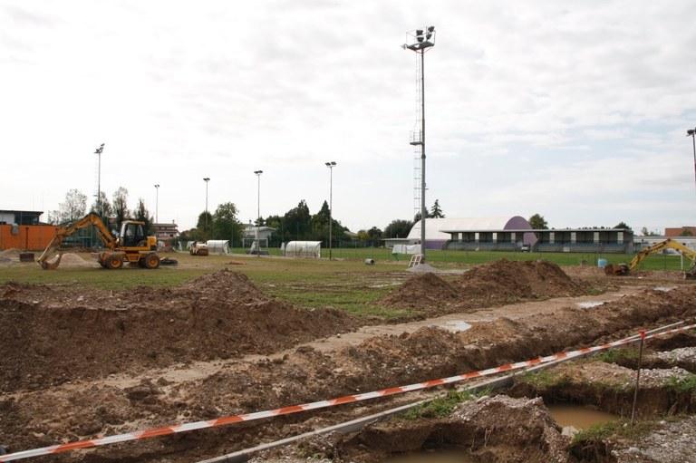 Foto   Sbancamento dell'area presso l'impianto comunale di via Peruzza a Torre