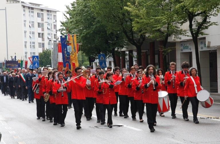 Foto La Filarmonica ad una celebrazione pubblica