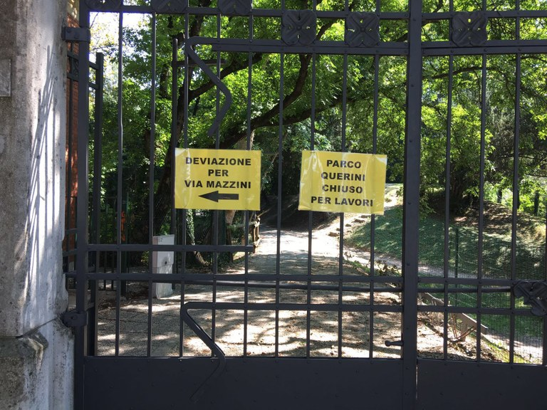 foto cancello parco Querini
