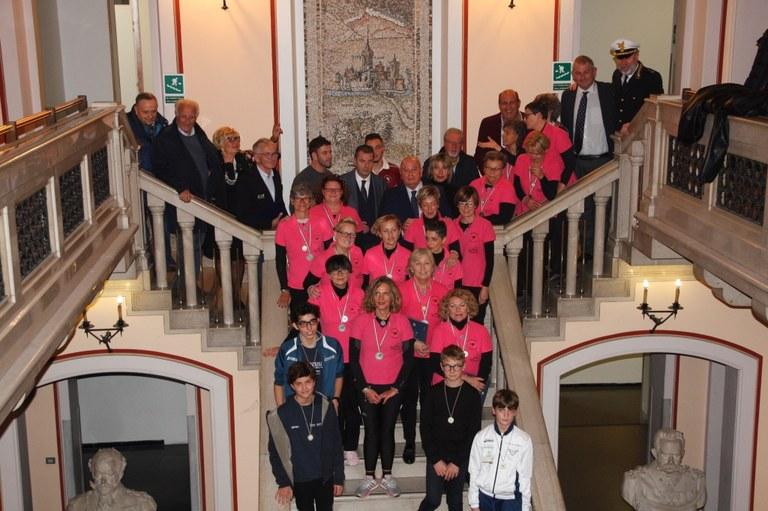 Foto    Riconoscimenti agli studenti e ai protagonisti adulti  dello sport