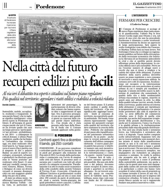 Il Gazzettino del 16 settembre 2012, pagina II