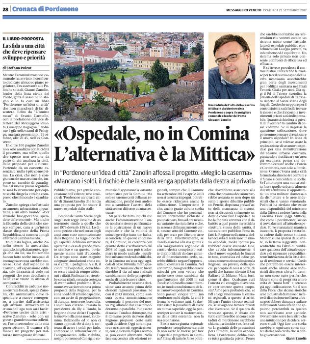 Messaggero Veneto del 23 settembre 2012, pagina 28
