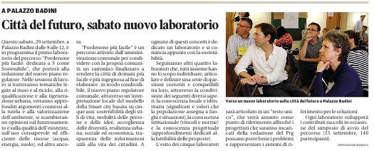 Messaggero Veneto del 26 settembre 2012, pag. 26
