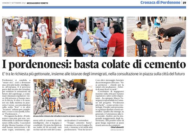 Messaggero Veneto del 7 settembre 2012, pagina 19