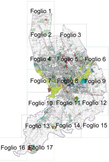 """Tavola n. 2 """"Localizzazione degli interventi"""""""