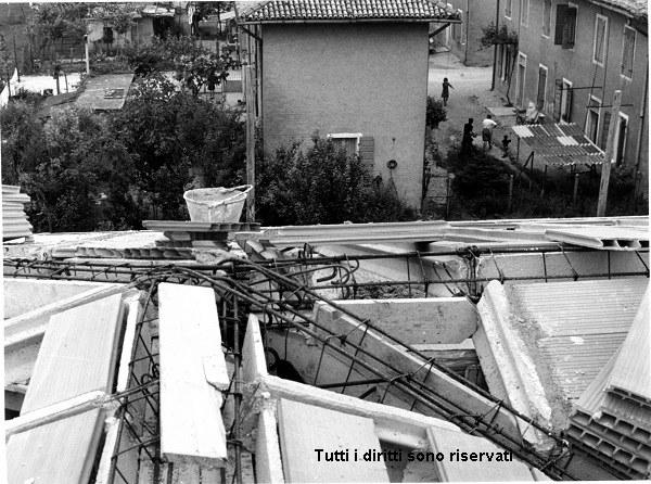 Vista dal tetto della scuola elementare - anni '60