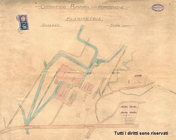Planimetria dell'area del cotonificio - anni '20