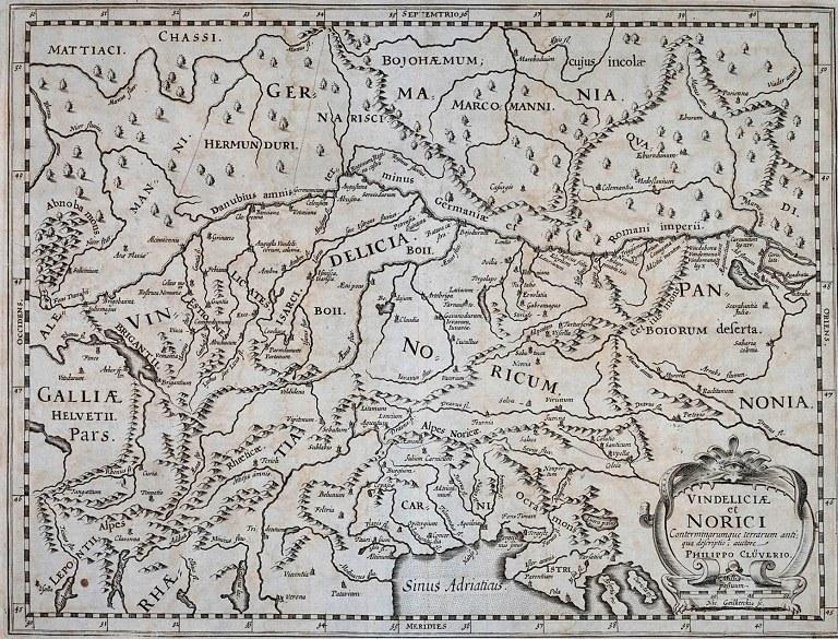 Il Norico del tedesco Philipp Clüver. 1600