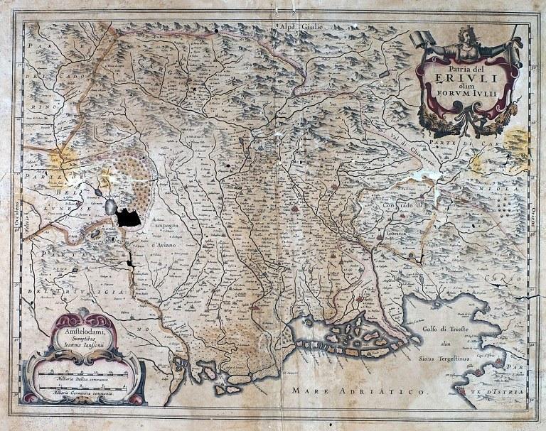 La Patria del Friuli del fiammingo Jan Janssonius. 1640