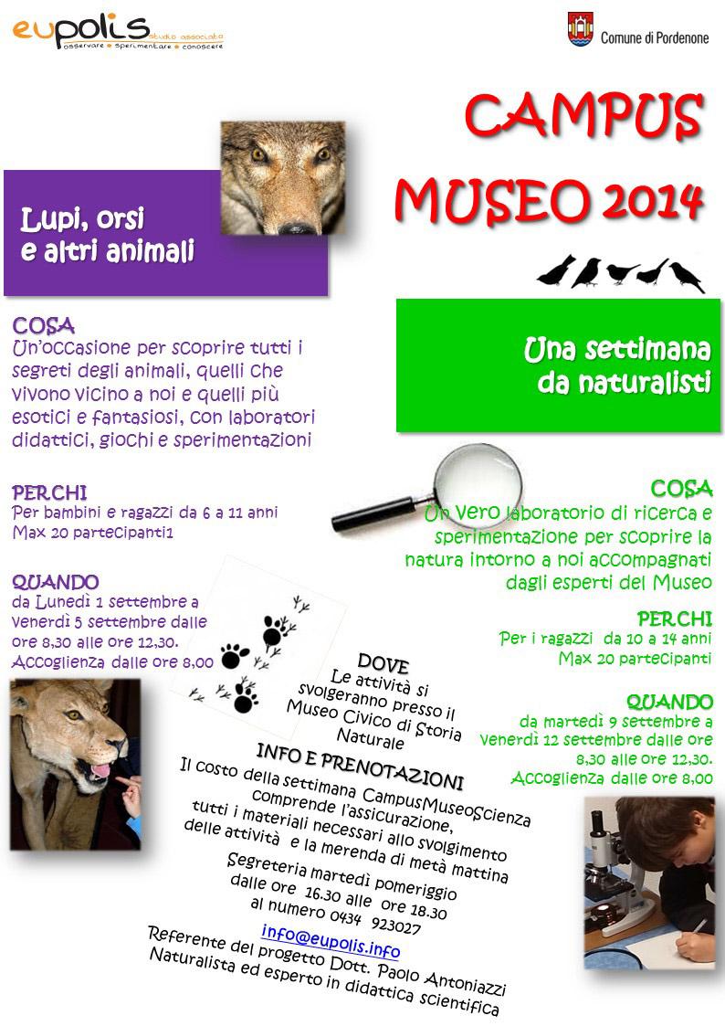 Campus museo 2014 - Locandina